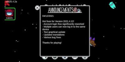 Ultimas novedades en el videojuego de Among Us