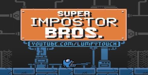 Versión de Among Us con el estilo del Super Mario Bros para Gameboy
