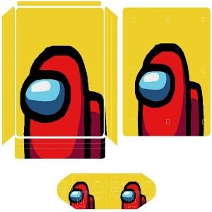 Vinilos adhesivos playstation 4 personaje rojo Among Us