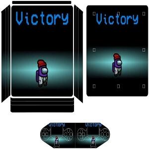 Vinilos adhesivos playstation 4 personaje victory Among Us