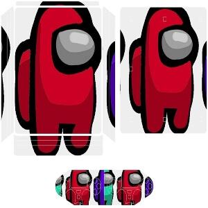 Vinilos adhesivos playstation 4 personajes Among Us