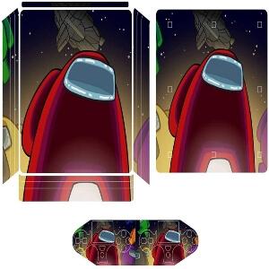 Vinilos adhesivos playstation 4 personajes con nave espacial Among Us